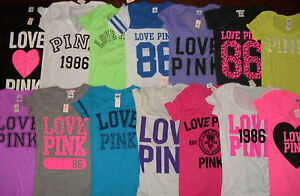 NWT-039-s-Victoria-039-s-Secret-PINK-Graphic-Logo-Lots-Tee-Shirt-Tops-XS-amp-S-2