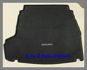 new 2011 2013 hyundai sonata black carpet cargo mat oem hyundai ebay. Black Bedroom Furniture Sets. Home Design Ideas