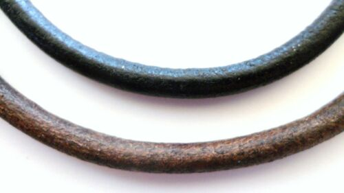 6mm smooth leather gold tone necklace black or brown u pick length