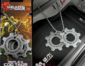 GEARS-OF-WAR-3-METAL-COG-DOG-TAG-NECKLACE-NECA-NEW