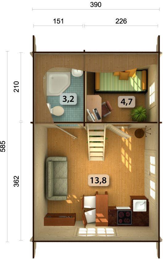 gartenhaus sandra 3 nicole ferienhaus blockhaus holzhaus ca 605x410 cm 44 mm ebay. Black Bedroom Furniture Sets. Home Design Ideas
