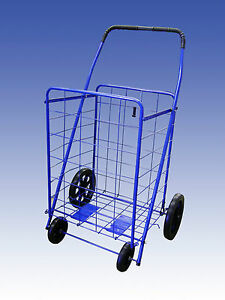 Extra-Large-Heavy-Duty-Folding-Shopping-Cart-for-Grocery-Laundry-amp-more-Blue