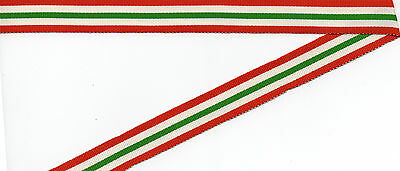 ITALY STAR  MINIATURE MEDAL RIBBON OLD SILK/COTTON 6 INCHES (15cm)