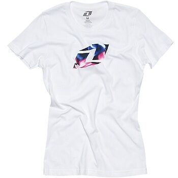 ONE INDUSTRIES WOMENS T-SHIRT top FIREFLY TEE WHITE OR GREY motocross mx