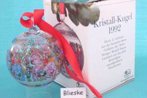 Hutschenreuther Bola de Navidad Cristal 1991 hasta 2016 Venta Al por Menor