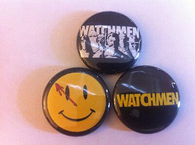 "WATCHMEN set of 3 1"" pins pinback buttons RORSCHACH Alan moore DC comics vertigo"