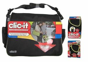 NEW-CLIC-IT-Black-Baby-Smart-Diaper-Bag-System-Extras