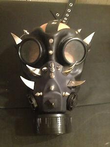 Handmade-leather-art-Halloween-spikes-gas-mask-goggles-steampunk-LARP-cosplay