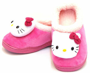 Kitty PERMING Face Warm FUR Sandals Shoes for Girls Kids House ...