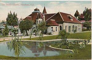 Public-Library-Pasadena-California-CA-Postcard