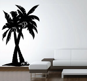Palm Tree Wall Art large vinyl wall art decal coconut palm tree forest removable