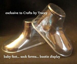 6-PAIRS-Clear-Plastic-Baby-Feet-display-baby-booties-shoes-sock-etc-EXCLUSIVE