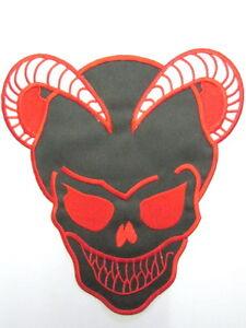 Devil-Demon-Horned-Satan-Skull-Iron-On-Rockabilly-Biker-Giant-Back-Patch-10-6-034
