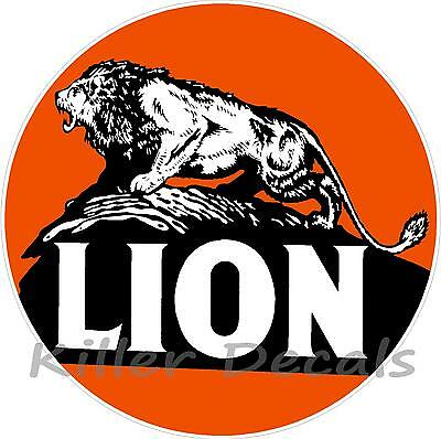 """12"""" LION GASOLINE DECAL GAS AND OIL GAS PUMP SIGN, WALL ART STICKER"""