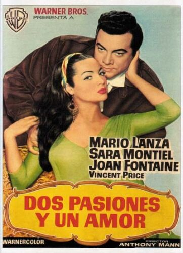 Serenade Joan Fontaine Mario Lanza movie poster print