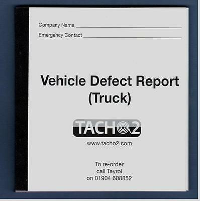 Vehicle Defect Book - Truck - 50/2 - 50 sets - 2 part duplicate - 1 book
