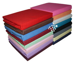 Plain-Dyed-Polycotton-Elastic-Fitted-Sheet-Single-Double-Super-King-Pillowcase