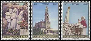 Vatican 1967 Mi 528-30 ** Religion Papież Papa Papst Pope Paul VI Fatima -  Dabrowa, Polska - Vatican 1967 Mi 528-30 ** Religion Papież Papa Papst Pope Paul VI Fatima -  Dabrowa, Polska