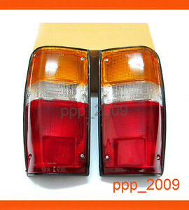 tail lights lamp pair toyota pick up truck 1984 1988 84 85. Black Bedroom Furniture Sets. Home Design Ideas
