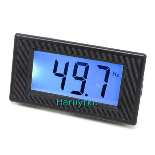 Digital LED Frequency Panel Meter Test 10-199.9Hz LCD Frequency Power AC 80-250V