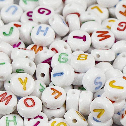 500 piezas mixtas alfabeto//letras De Acrílico Espaciador Granos 7 mm Envío gratis 003#