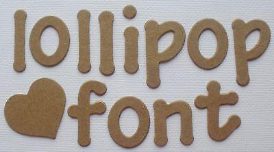 LOLLIPOP FONT - Lowercase Alphabet Letters Bare Chipboard Die Cuts - 62 Pc