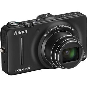 Nikon-Coolpix-S9300-Digital-Camera-Black-BRAND-NEW