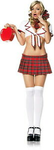 Sexy-Catholic-Naughty-Prep-School-Girl-Outfit-Adult-Women-039-s-Halloween-Costume