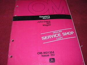 John-Deere-965-Farm-Wagon-Operator-039-s-Manual