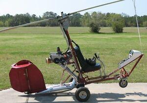 KB-2 Gyroplane Ken Brock KB2 Autogyro Helicopter Mahogany