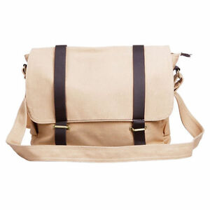 Mens-Canvas-Casual-Shoulder-Messenger-Bag-Crossbody-Bag-Khaki