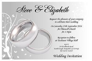 Personalizadas Casamentoconvites De Casamento Noite N44 Anéis De