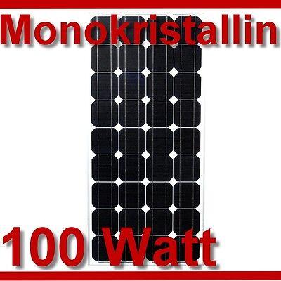 Solarpanel Solarmodul 12V 12 Volt MONOKRISTALLIN 100Watt 100W Solarzelle Mono