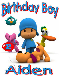 New-Pocoyo-Custom-Personalized-birthday-t-shirt-Party-Favor-kids-gift-present