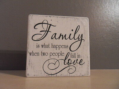 Shabby Family plaque/sign, chic and unique
