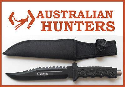 AUSTRALIAN HUNTERS DUNDEE 32cm LARGE PIG HUNTING KNIFE WITH SHEATH