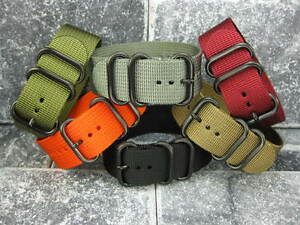 New-20mm-Nylon-Diver-Strap-3-Rings-PVD-Watch-Band-Military-fit-ZULU-Maratac-20