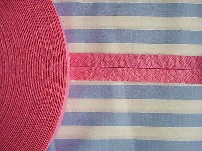 10m Baumwoll-Schrägband gefalzt pink Neu 40/20mm