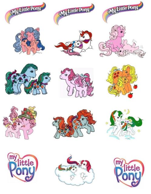 My little Pony Mom and babies 8x10 Iron on transfer