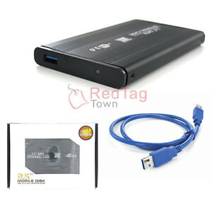 New-2-5-USB-3-0-SATA-External-Hard-Drive-HD-Mobile-Disk-Enclosure-Case-Black