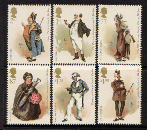 GREAT BRITAIN 2012 CHARLES DICKENS SET OF 6 UNMOUNTED MINT, MNH
