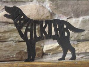 Details about Black Labrador Lab Dog Puzzle Toy Amish Made NEW