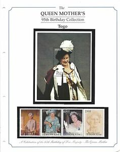 Stamps-The-Queen-Mother-039-s-95th-Birthday-Collection-Togo