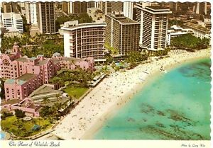 Vintage-Postcard-AERIAL-WAIKIKI-BEACH-1970-039-S-Dexter-Press-Excellent-DT-11983-D