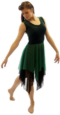 GREEN MIDSUMMER NIGHT'S DREAM FOREST FAIRY-Lyrical-Dance-Dress  ALL SIZES