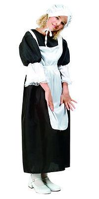PILGRIM GIRL COLONIAL PIONEER AMISH PURITAN CHILD KIDS COSTUMES BLACK 91067