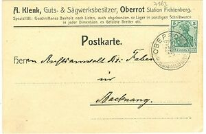 Oberrot b. Schwäbisch Hall, Firmenpostkarte d. Sägewerks, 1910 - Deutschland - Oberrot b. Schwäbisch Hall, Firmenpostkarte d. Sägewerks, 1910 - Deutschland