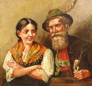 Heyde-Theodor-Datiert-1912-Der-ZITHERSPIELER-Zither-Dirndl-Zitherspiel-Bayern