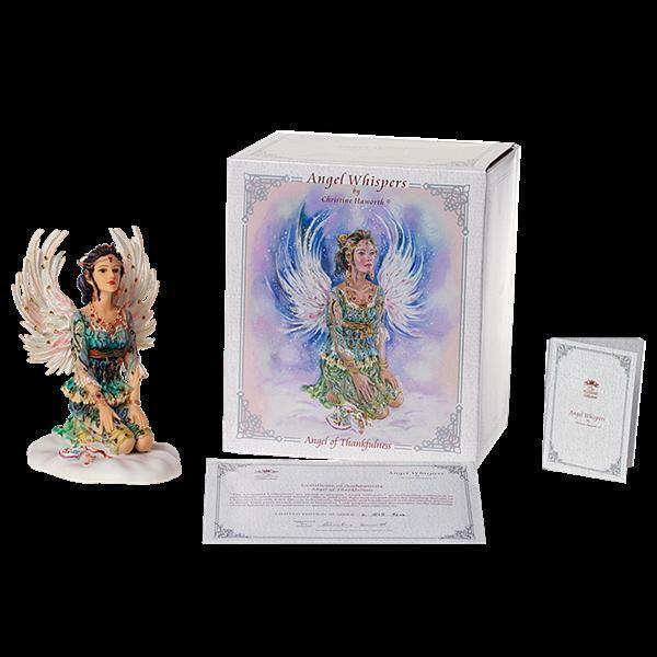 ANGEL WHISPERS ANGEL OF THANKFULNESS BY CHRISTINE HAWORTH BNIB BY LEONARDO BNIB