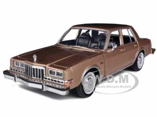 1986 DODGE DIPLOMAT BROWN METALLIC 1/24 DIECAST CAR MODEL BY MOTORMAX 73333